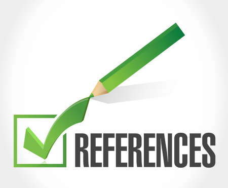 references: references check mark sign concept illustration design graphic