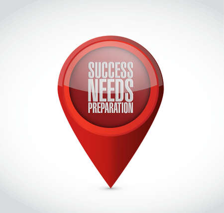 success needs preparation pointer sign concept illustration design Reklamní fotografie - 42290132
