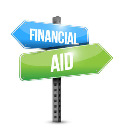 business survival: financial Aid road sign concept illustration design graphic Illustration