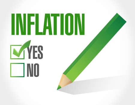 check sign: inflation check mark sign concept illustration design graphic Illustration