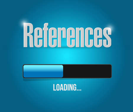 endorse: references loading sign concept illustration design graphic