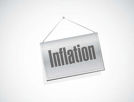 inflation hanging sign concept illustration design graphic