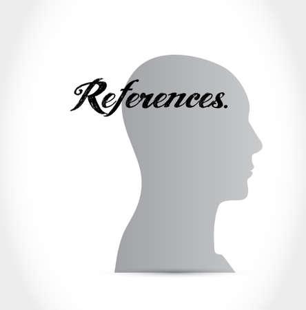references head sign concept illustration design graphic
