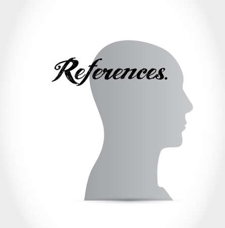 references head sign concept illustration design graphic