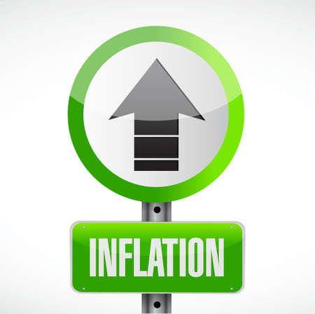 inflation road sign concept illustration design graphic