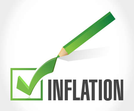check mark sign: inflation check mark sign concept illustration design graphic Illustration