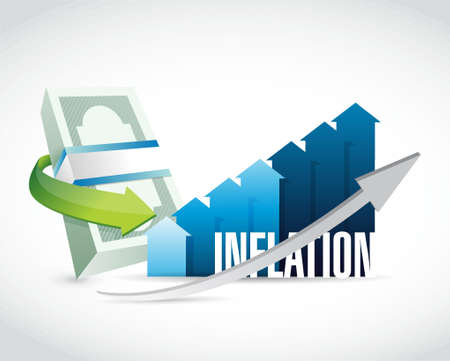 inflation: inflation business graph sign concept illustration design graphic