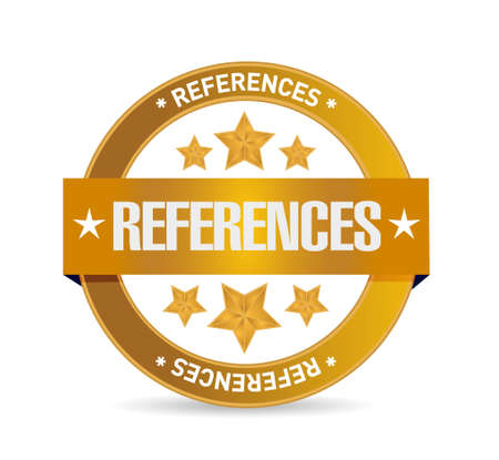 referral: references seal sign concept illustration design graphic