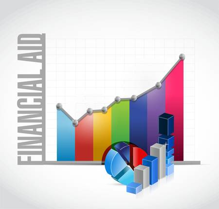 financial aid: financial Aid business charts sign concept illustration design graphic