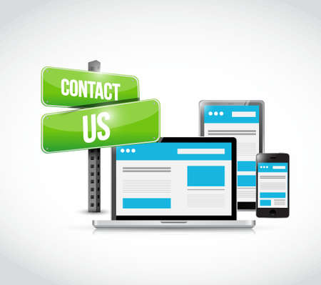 contact us sign: contact us sign technology concept illustration design graphic