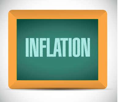 inflation chalkboard sign concept illustration design graphic