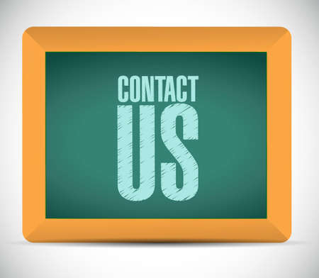 marketting: contact us chalkboard sign concept illustration design graphic Illustration