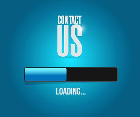 marketting: contact us loading bar sign concept illustration design graphic Illustration