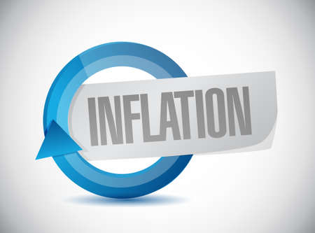 cash cycle: inflation cycle sign concept illustration design graphic