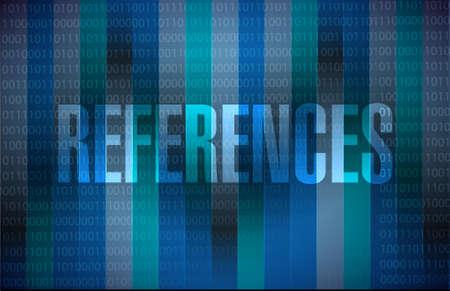 references binary sign concept illustration design graphic Ilustrace