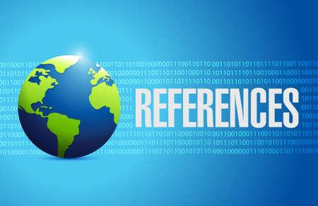 endorse: references globe sign concept illustration design graphic