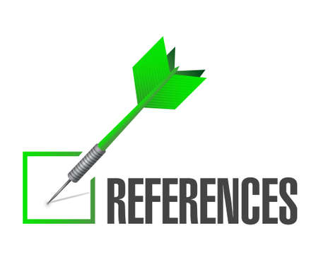 references: references check dart sign concept illustration design graphic
