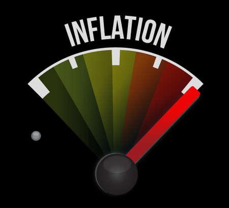inflation: inflation speedometer sign concept illustration design graphic
