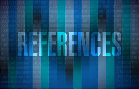 references: references binary sign concept illustration design graphic Stock Photo