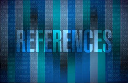 references binary sign concept illustration design graphic Reklamní fotografie