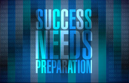strategic focus: success needs preparation message sign concept illustration design Stock Photo