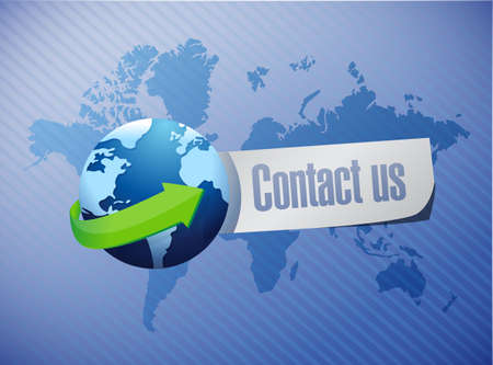 contact us international sign concept illustration design graphic