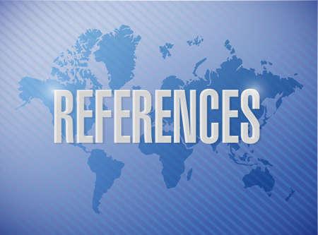 testimony: references world sign concept illustration design graphic
