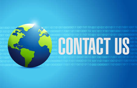 contact us globe sign concept illustration design graphic