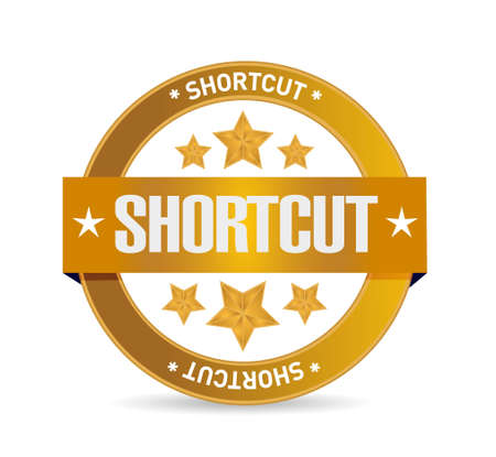 shortcut: Shortcut seal sign concept illustration design graphic Illustration
