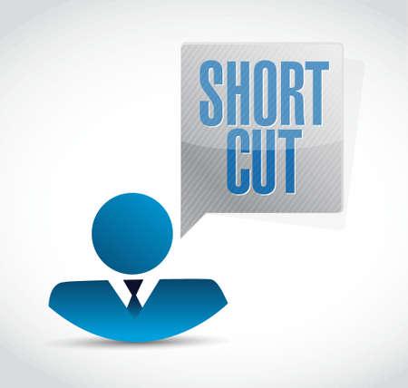 shorter: Shortcut avatar sign concept illustration design graphic