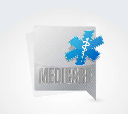 outpatient: Medicare message sign concept illustration design over white Illustration