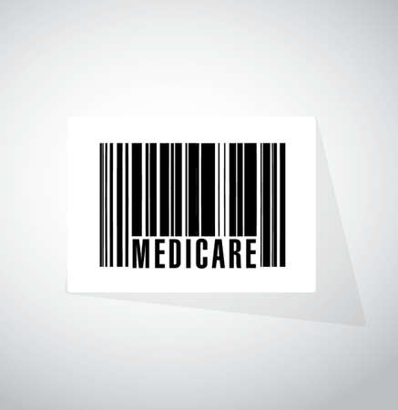 nhs: Medicare barcode sign concept illustration design over white Illustration