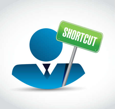 shortcut: Shortcut avatar icon sign concept illustration design graphic Illustration