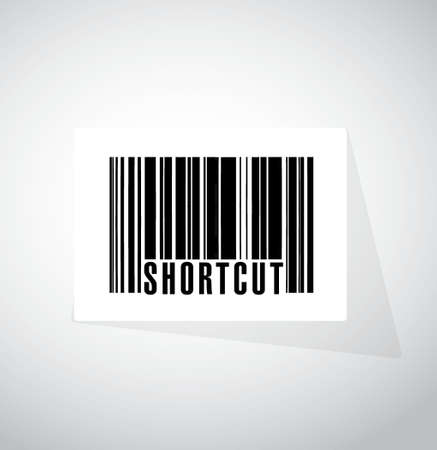 shorter: Shortcut barcode sign concept illustration design graphic