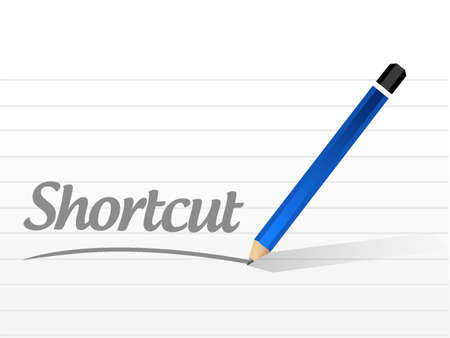 short break: Shortcut message sign concept illustration design graphic