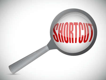shortcut: Shortcut magnify glass review sign concept illustration design graphic