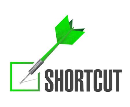 check mark sign: Shortcut check mark sign concept illustration design graphic