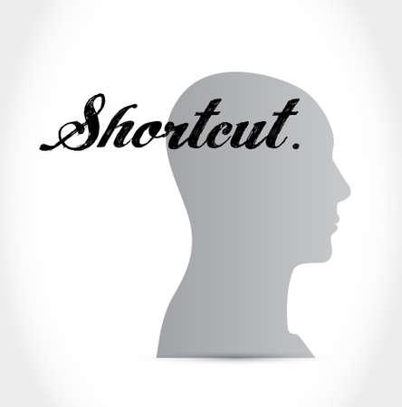 shorter: Shortcut mind sign concept illustration design graphic