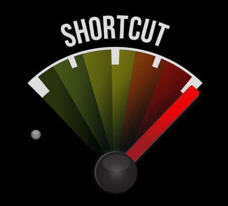 short break: Shortcut speedometer sign concept illustration design graphic