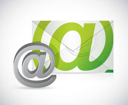 contact us mail illustration design isolated over white