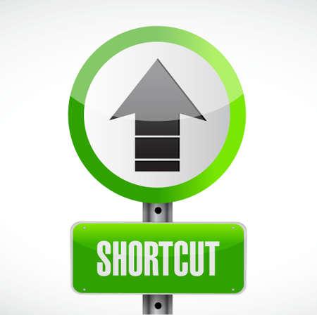 shortcut: Shortcut street sign concept illustration design graphic Illustration