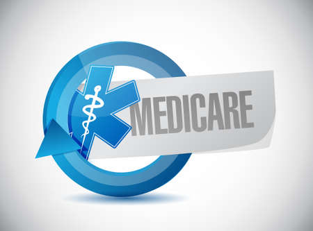 Medicare business sign illustration design over white