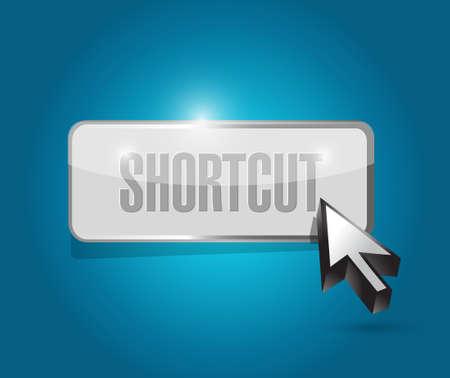cut short: Shortcut button sign concept illustration design graphic Illustration