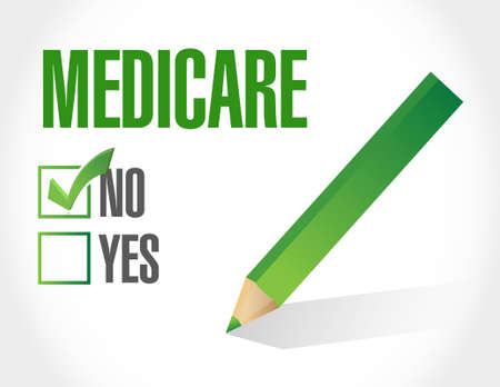 outpatient: no Medicare sign illustration design over white