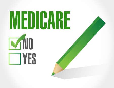 medicare: no Medicare sign illustration design over white