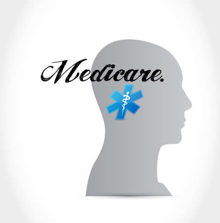 Medicare mind sign concept illustration design over white Vettoriali