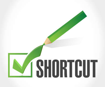 shortcut: Shortcut check mark sign concept illustration design graphic