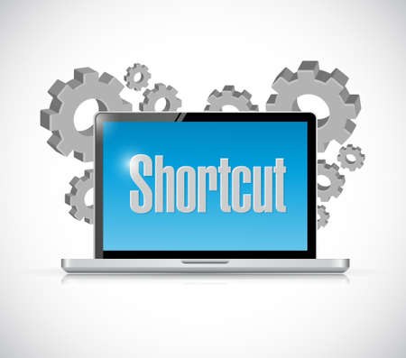 cut short: technology Shortcut sign concept illustration design graphic