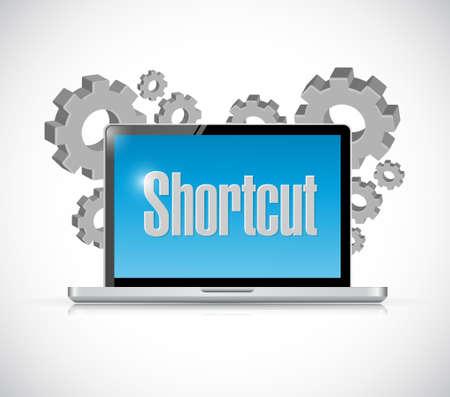 shorter: technology Shortcut sign concept illustration design graphic