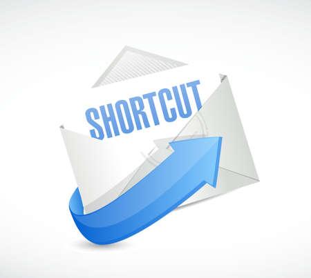 cut short: Shortcut mail sign concept illustration design graphic